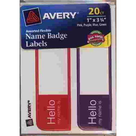 avery name badge labels hello my name is 6155 walmart com