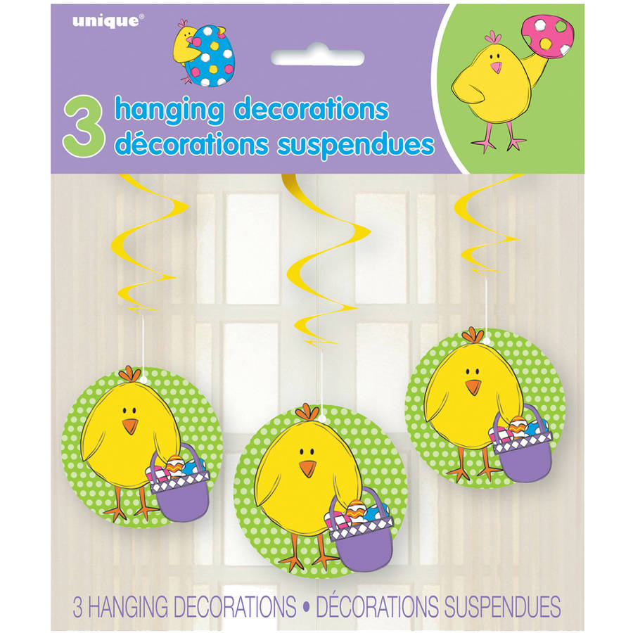 "26"" Hanging Bright Easter Decorations, 3-Count"