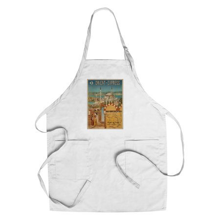 Orient - Express Vintage Poster France c. 1891 (Cotton/Polyester Chef's Apron) - Orient Chef