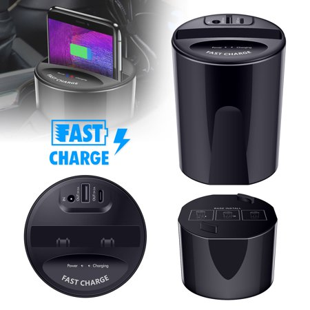 TSV Car Wireless Charger Cup Holder qi Wireless car Charger Wireless Charger Phone Charger Fast Wireless Charging pad Stand 10W/7.5W/5w Wireless Charger car - Charger Cup