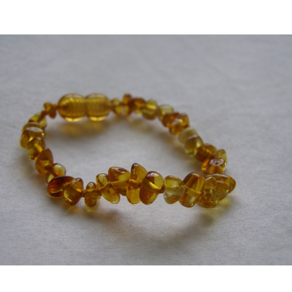 Baltic Amber Baby Teething Bracelet - Light Cognac