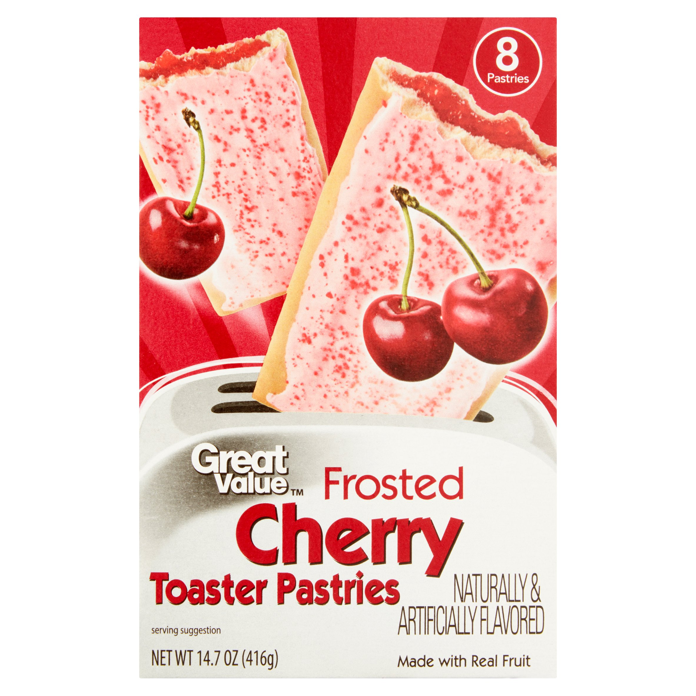 Great Value Frosted Toaster Pastries, Cherry, 8 Count by Wal-Mart Stores, Inc.