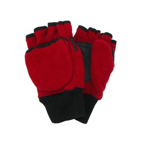 Hybrid Fleece Glove - CTM®  Kids' 4-7 Fleece Flip Top Fingerless Gloves and  Mitten