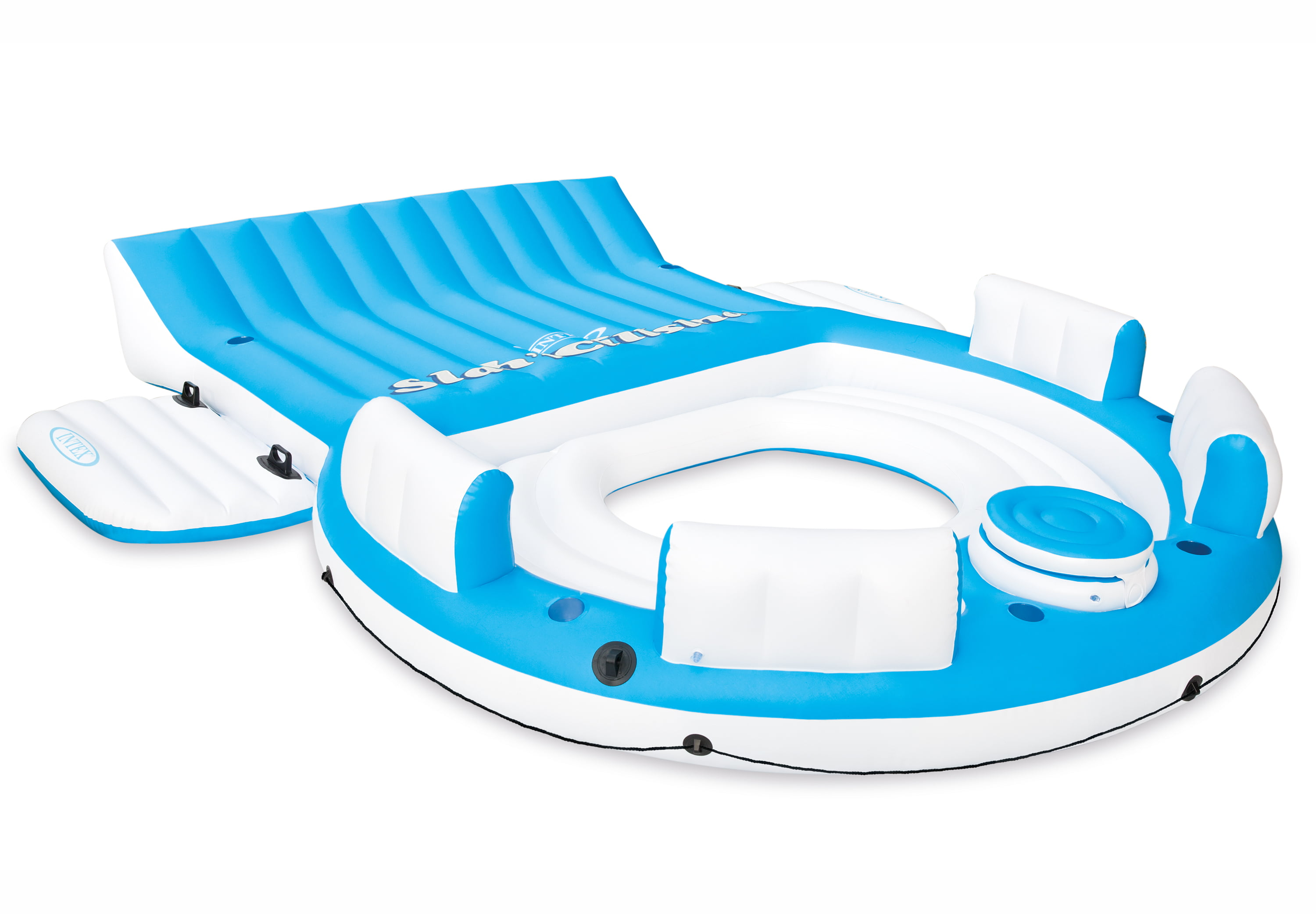 Click here to buy Intex Inflatable Relaxation Island Raft With Backrests And Cooler | 56299CA by Intex.