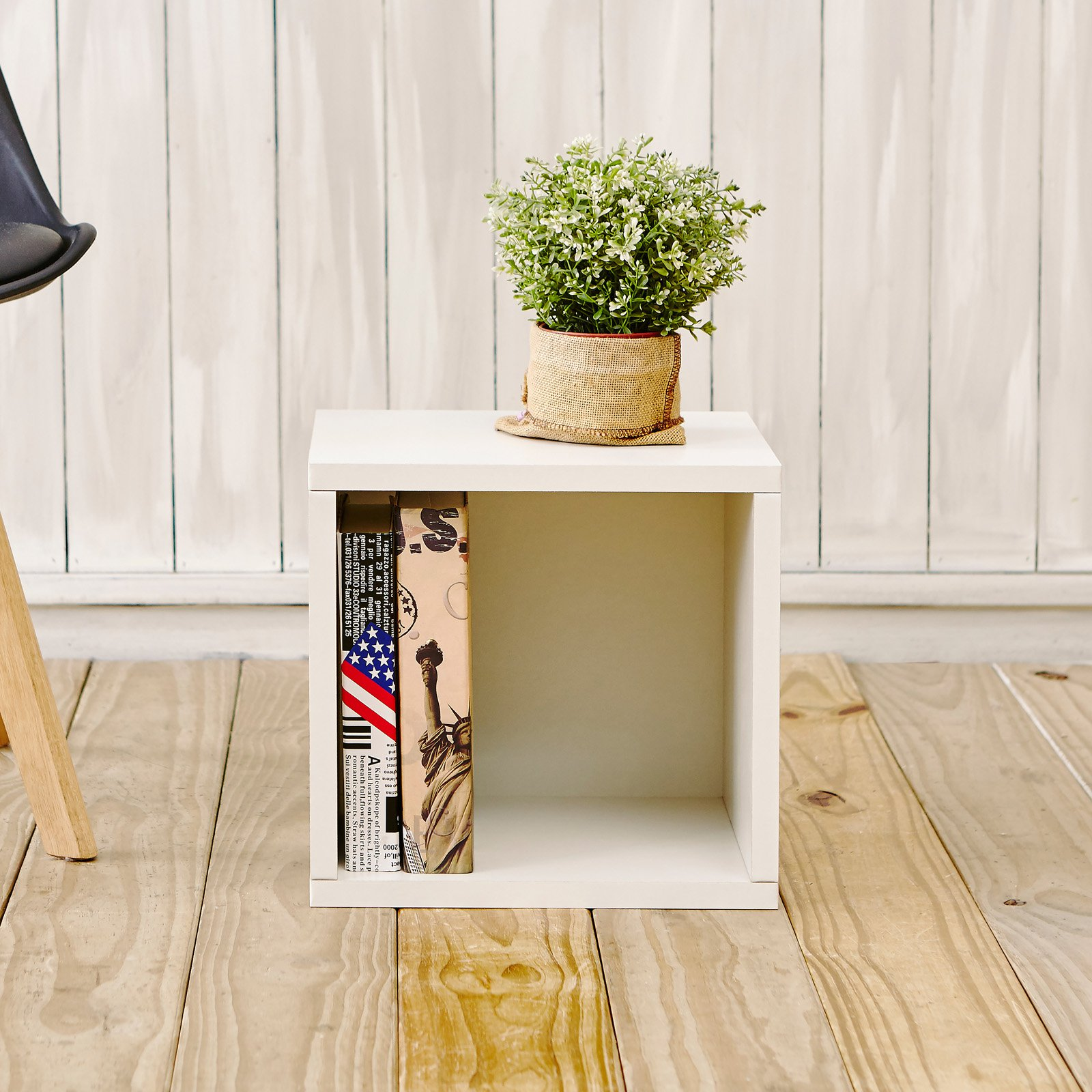 Way Basics Eco Stackable Storage Cube and Cubby Organizer, White