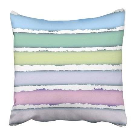 - CMFUN Blue Stripe Striped Grunge Color Bars with White Spaces Gentle Green Uneven Abstract Pillow Case Cushion Cover 16x16 inch
