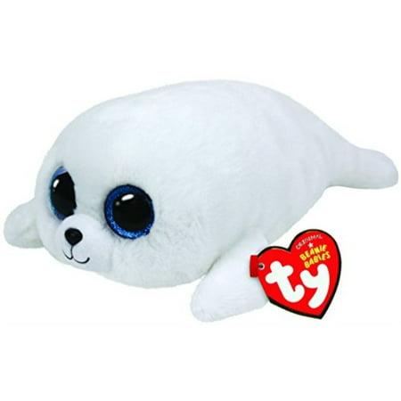 ty beanie boos icy - white seal - White Bolo