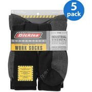 Dickies - Men's Dri-Tech Comfort Crew Work Socks, 5-Pack