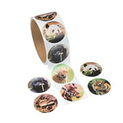 Fun Express Zoo Animal Stickers (1 Roll)