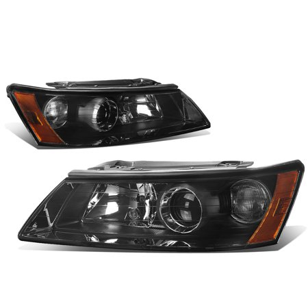 For 2006 to 2008 Hyundai Sonata Projector Headlight Smoked Housing Amber Corner Headlamp 07 NF - Hyundai Sonata Headlight Sonata