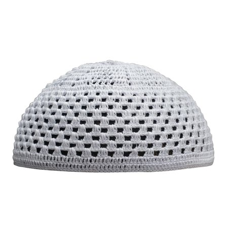 TheKufi® Cotton Crochet Bright-white Skull Cap Open-weave Style Muslim Kufi  (L) - Walmart.com 1b71e933d234