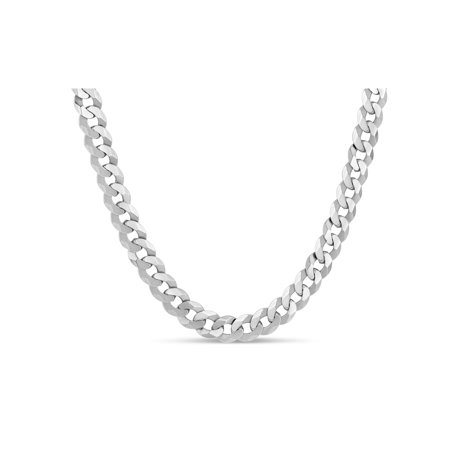 Sterling Silver Mens Curb 200 Gauge Chain Necklace 18 Inches