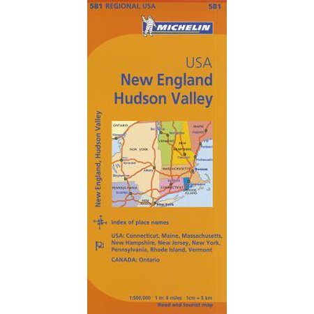 Michelin usa: new england, hudson valley map 581 - folded map: (Hudson Valley Beacon)