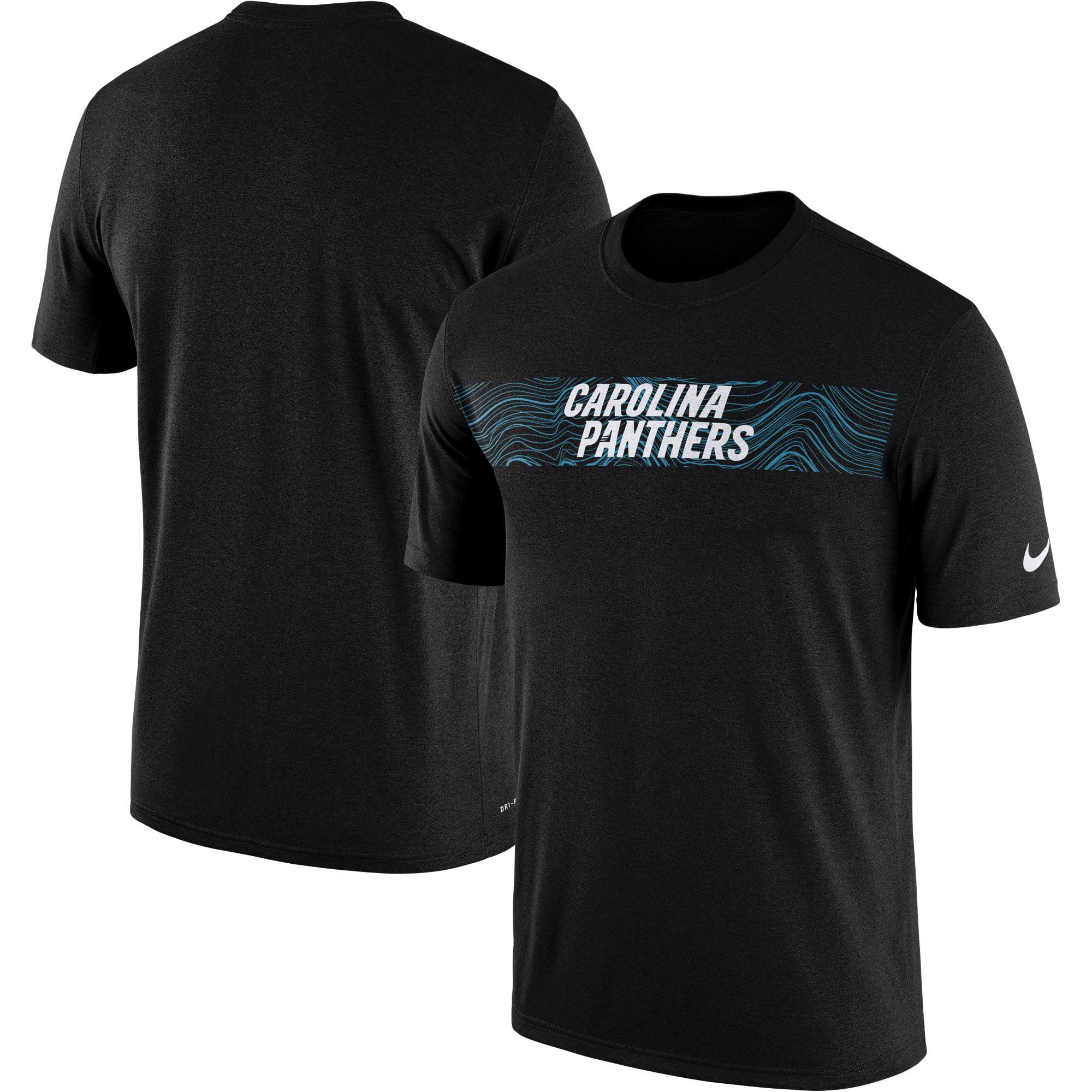 Carolina Panthers Nike Sideline Seismic Legend Performance T-Shirt - Black