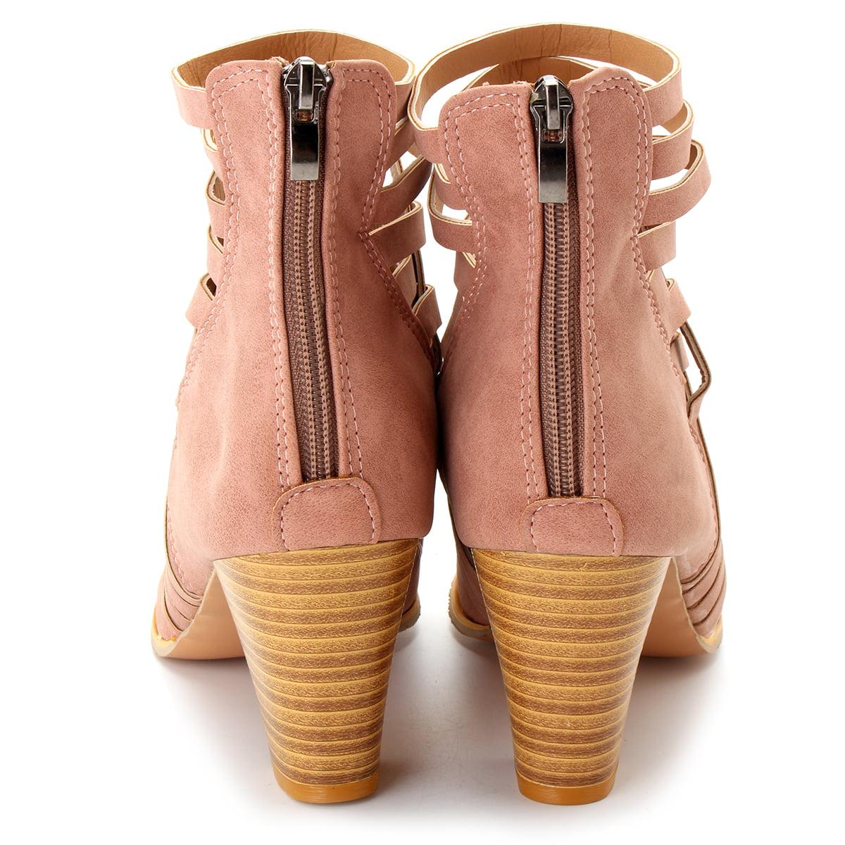 bd68e5b4fb1 Meigar - Meigar Summer Women s Ankle Boots Block Low Mid Heel Sandals -  Walmart.com