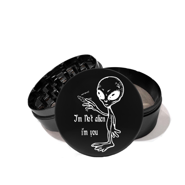 Alien Smoking LMAO - Laser Etched Grinder