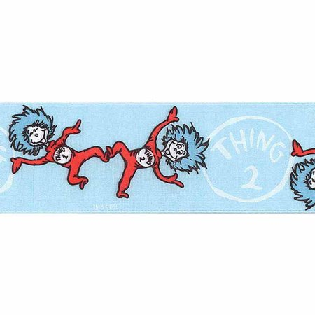 7/8in Dr. Seuss Thing One Thing Two Ribbon Blue (Dr Seuss Ribbon)