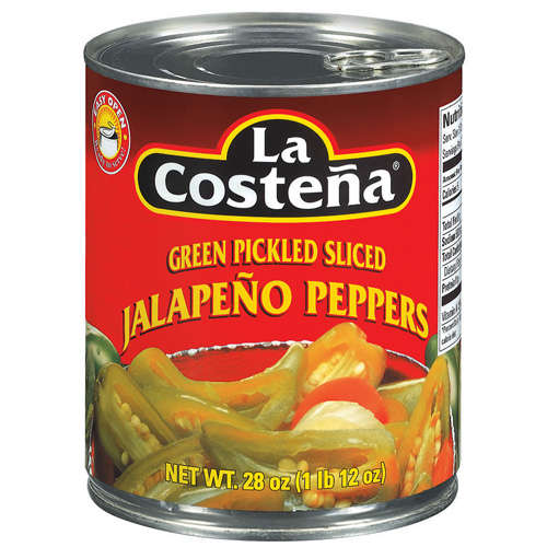 La Costena: Green Pickled Sliced Jalapeno Peppers, 28 Oz