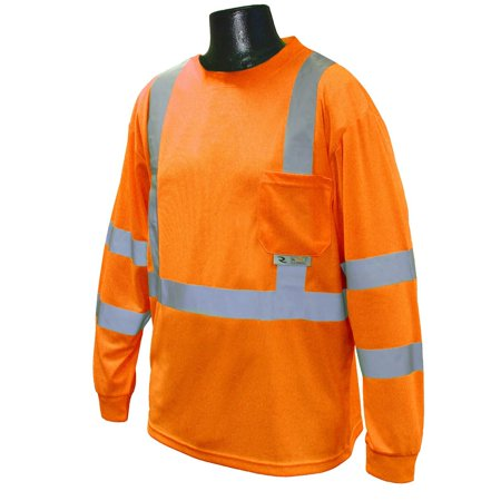 Gusta Shirt - ST21-3POS-4X Class 3 Max-Dri Moisture Wicking Mesh Long Sleeve Safety T-Shirt, 4X-Large, Orange, Greet your guests in style with this decorative door.., By Radians