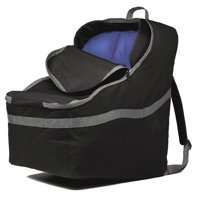 J.L. Childress Ultimate Backpack Padded Car Seat Travel Bag and Carrier, Black/Grey
