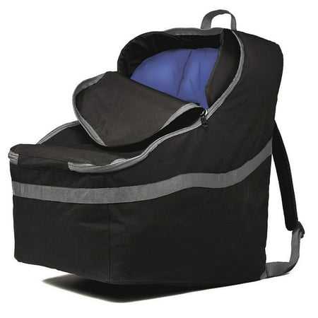 J.L. Childress Ultimate Backpack Padded Car Seat Travel Bag and Carrier, Black/Grey Car Seat Carrier Bag