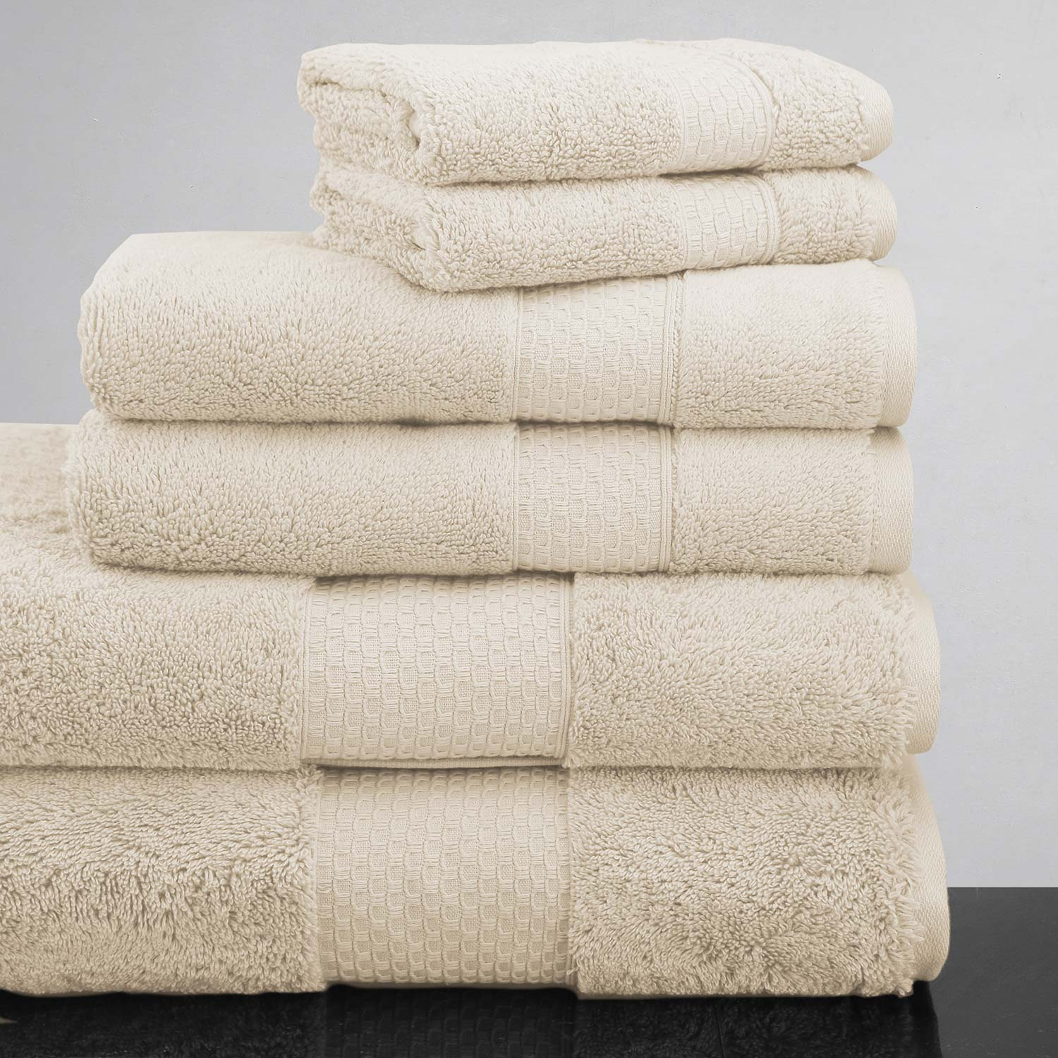 Luxor Linens Mariabella 6-Piece Towel Set