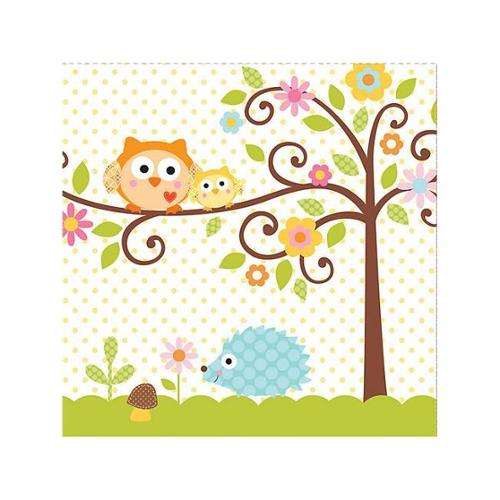 Happy Tree Luncheon Napkins (16 Pack) - Party Supplies