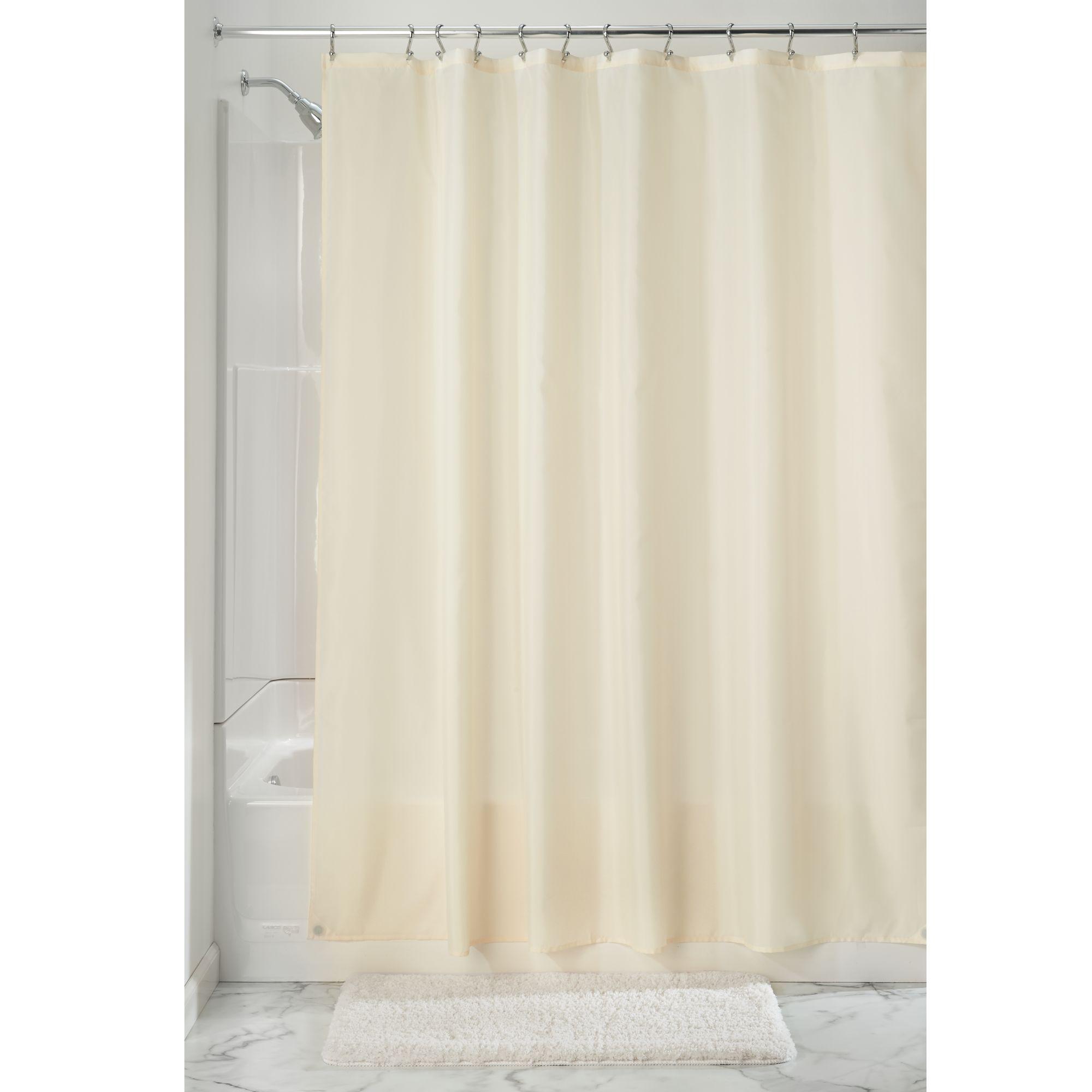 Interdesign Waterproof Fabric Shower Curtain Liner Standard 72 X