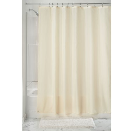 InterDesign Waterproof Fabric Shower Curtain Liner Standard 72 X Sand