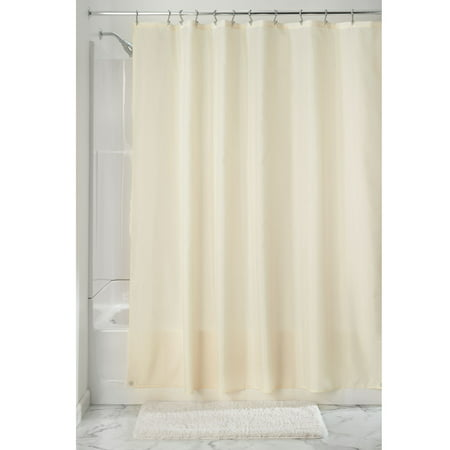 InterDesign Waterproof Fabric Shower Curtain Liner, Standard 72