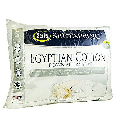 Sertapedic Egyptian Down Alternative Pillows, Set of 2