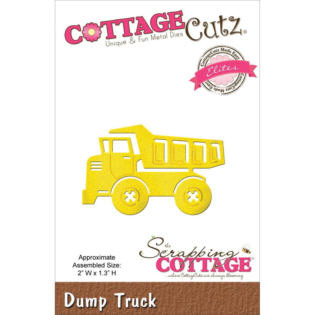 """Dump Truck 2/""""X1.3/"""" Inch Die Cutting Die Cottage Cutz CCE-141 New"""