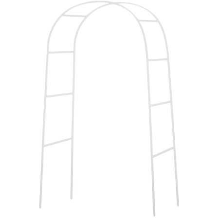7.5 Feet Tall White Metal Arch for Weddings, Garden Decorations, Pictures, and Much More