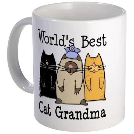 CafePress - World's Best Cat Grandma Mug - Unique Coffee Mug, Coffee Cup CafePress ()
