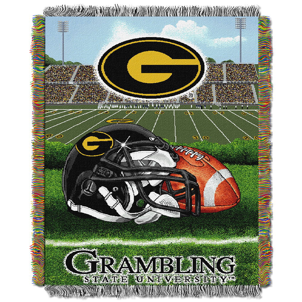 "Grambling Tigers NCAA Woven Tapestry Throw (Home Field Advantage) (48""x60"")"