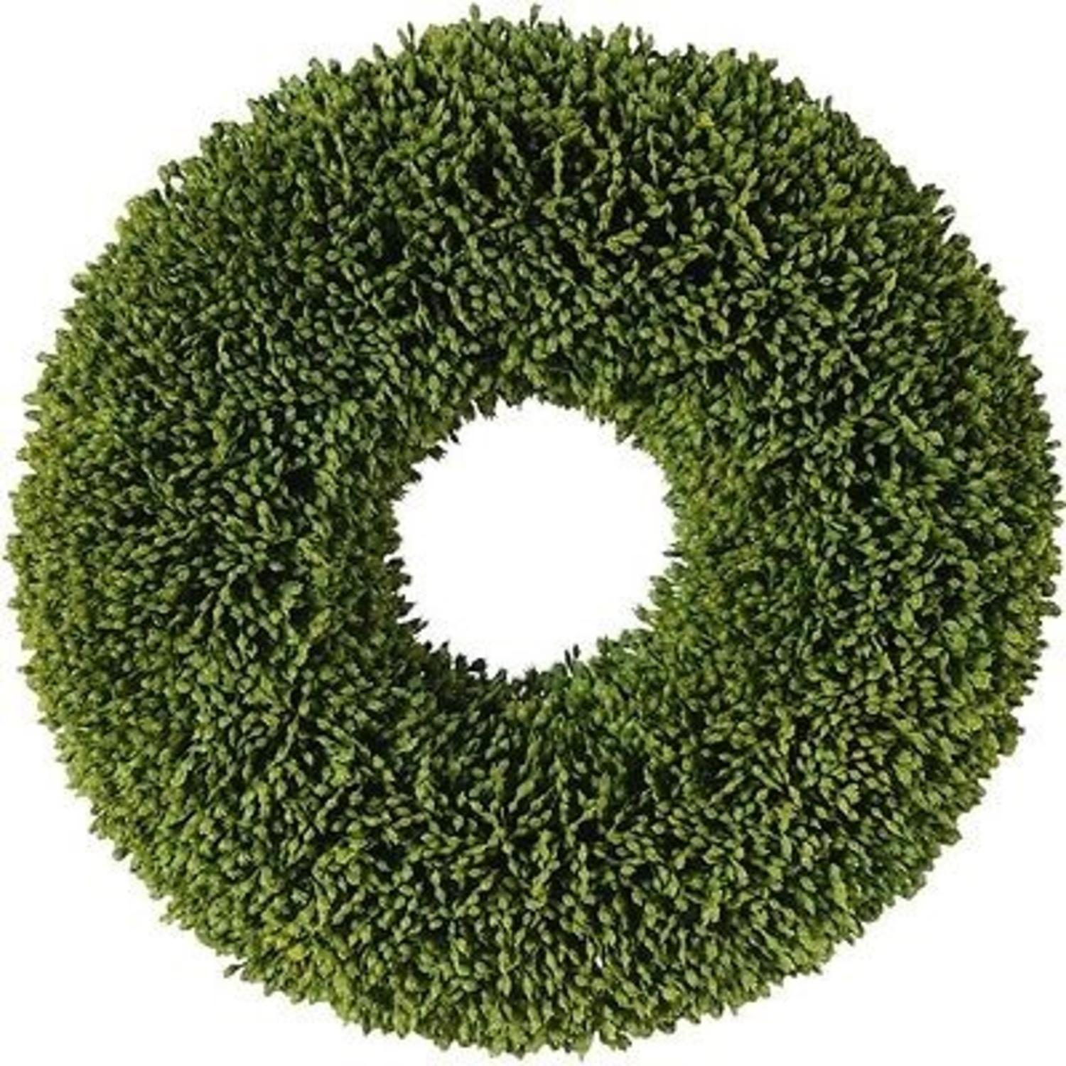 """Image of 11"""" Decorative Artificial Two Tone Green Botanical Spring Wreath - Unlit"""