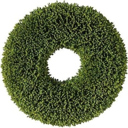 "Image of 11"" Decorative Artificial Two Tone Green Botanical Spring Wreath - Unlit"