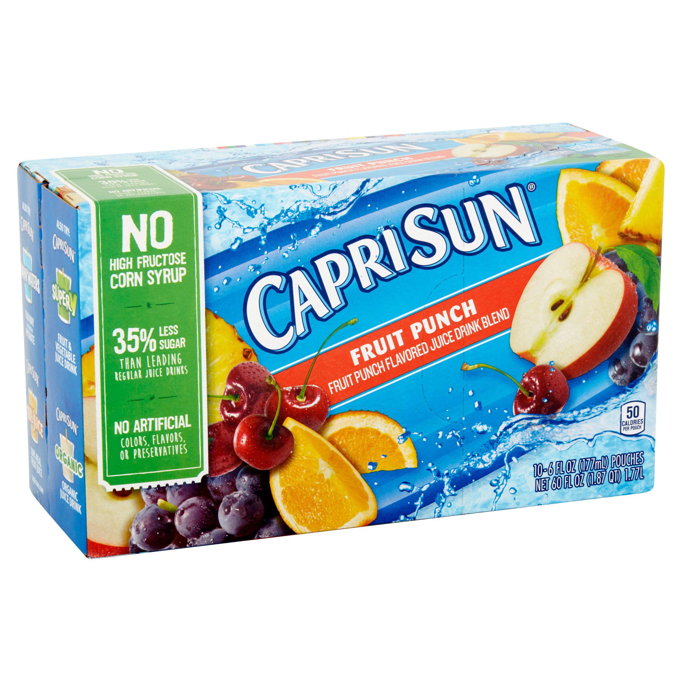 Capri Sun Fruit Punch Juice Drink Blend, 10 count, 60 Fl Oz by Kraft Foods Group, Inc.