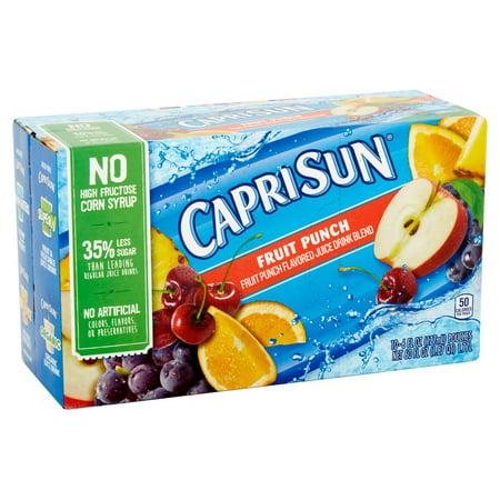 Capri Sun Juice Pouches  Fruit Punch  6 Fl Oz  10 Count