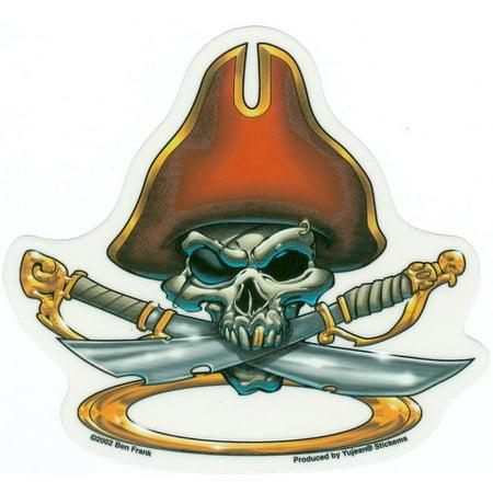 Ben Frank - Skull Pirate - Sticker / Decal - Pirate Merchandise
