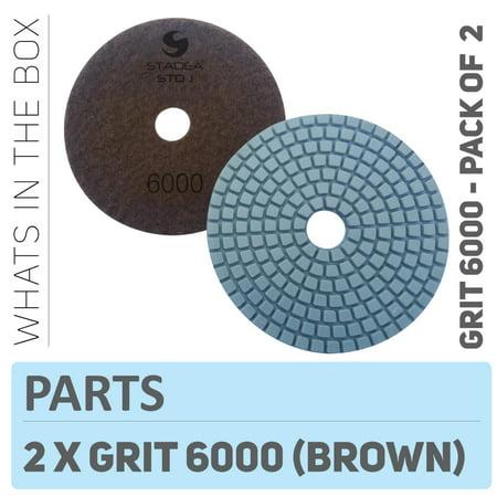 Stadea PPW128D Diamond Polishing Pads 4 Inch - For Concrete Terrazzo Marble Granite Countertop Floor Edge Wet Polishing, Grit 6000 - Pack of (Marble Granite Countertops)