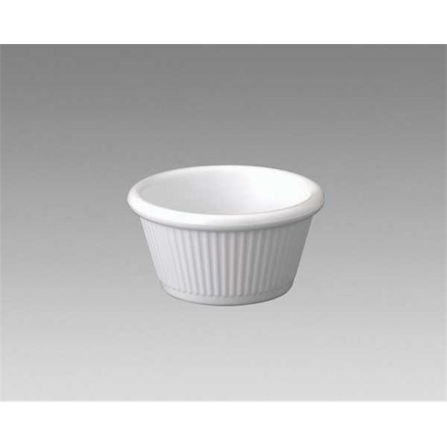 Gessner Products IW-0384A-WH 4 oz.  Fluted Ramekin- Case of 12