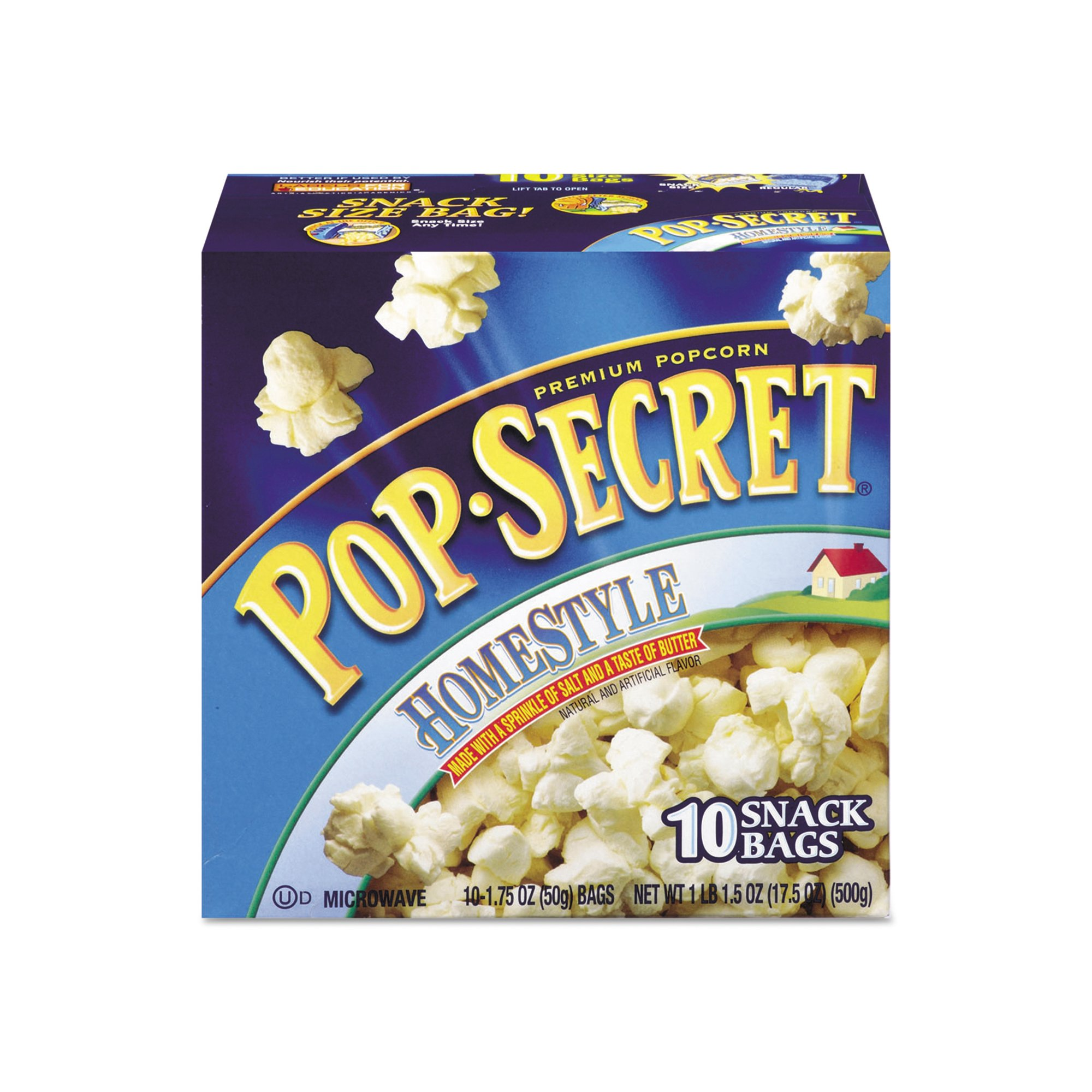 Pop Secret Microwave Popcorn, Homestyle (1.2 oz bags, 10 pk.) - Pack of 2