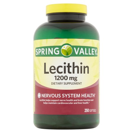 Spring valley lecithin dietary supplement 1200mg 250 for Spring valley fish oil 1200 mg