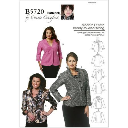 Misses'/Women's Jacket-WOMAN (XXL-1X-2X-3X-4X-5X-6X) *SEWING PATTERN*