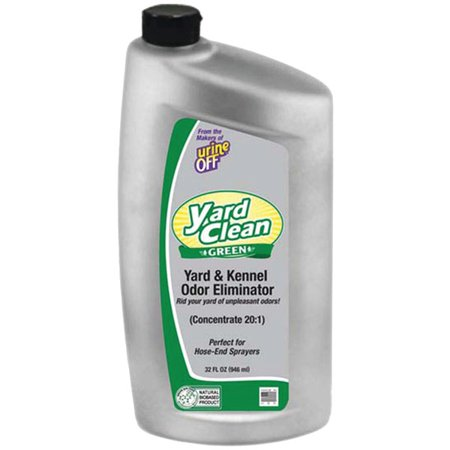 Urine Off Bu1027 Yard Clean Green Yard & Kenner Odor Eliminator 20:1 Concentrate, 32oz