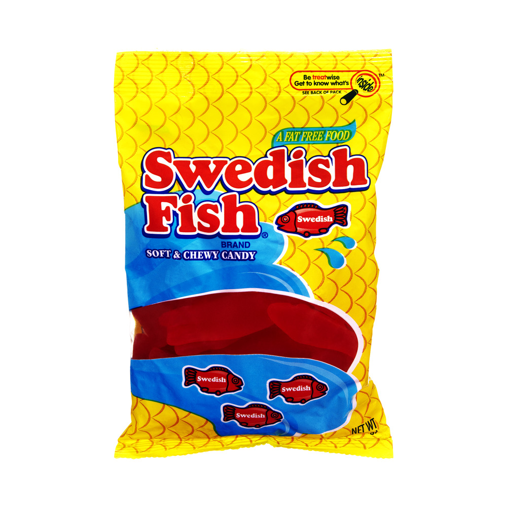 Pack of 6) Swedish Fish Fat Free Soft & Chewy Candy, 8 Oz ...