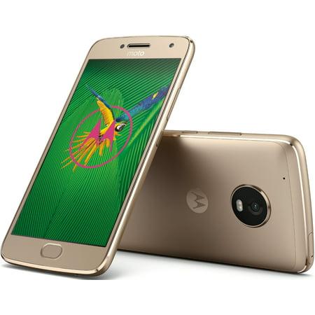 Motorola Moto G5 Plus 32GB Unlocked Smartphone, Fine Gold