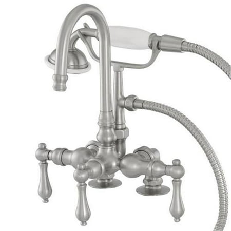 Image of American Bath Factory F200A-SN 200 Series Bathtub Faucet in Satin Nickel