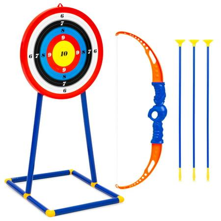 Best Choice Products Kids Toy Archery Set w/ Bow, Arrows, Bullseye Target - Multicolor